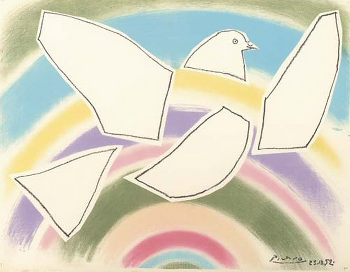 Pablo Picasso. Flying Dove (in the Arc-en-ciel), 1952