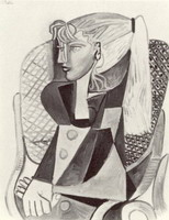 Pablo Picasso. Portrait of Sylvette David 10, 1954