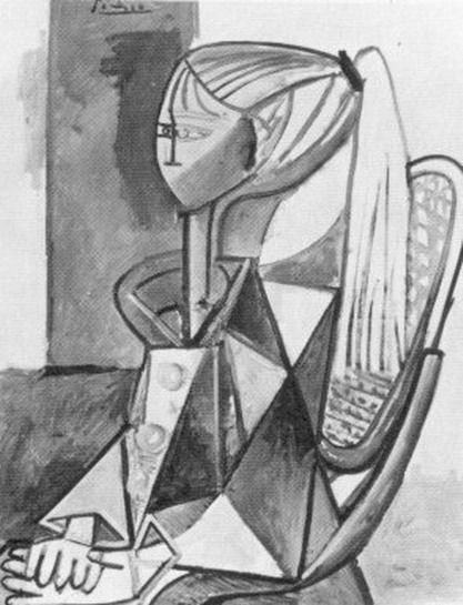 Pablo Picasso. Portrait of Sylvette David 09, 1954