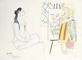 Pablo Picasso. The Artist and His Model II, 1958