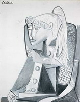 Pablo Picasso. Portrait of Sylvette David 16, 1954