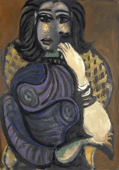 Pablo Picasso. Woman in an armchair, 1946
