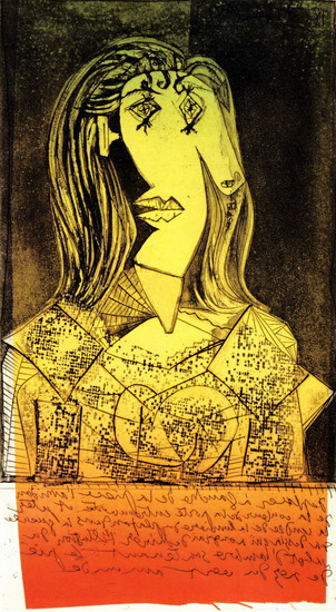 Pablo Picasso. Bust of a woman to the chair IX, 1938