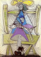 Pablo Picasso. Seated Woman (Dora Maar), 1938