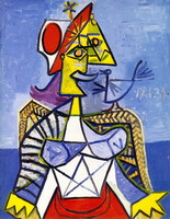 Pablo Picasso. woman sitting