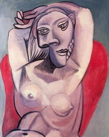 Pablo Picasso. Woman in a Red Armchair