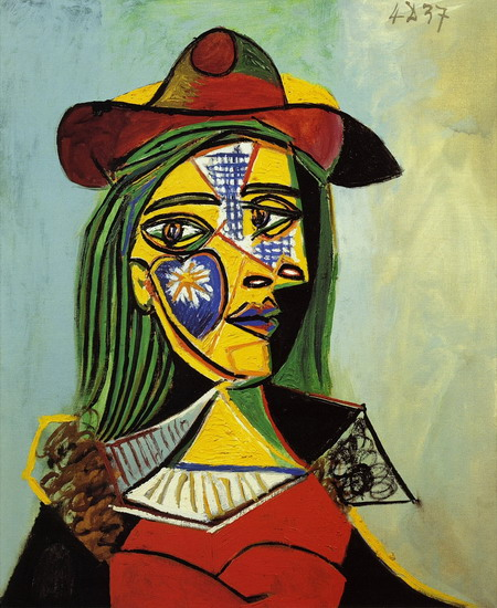Pablo Picasso. Woman with hat and fur collar, 1937