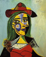 Pablo Picasso. Woman with hat and fur collar
