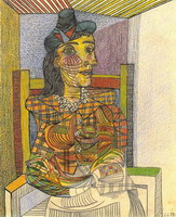 Pablo Picasso. Portrait of Dora Maar sitting