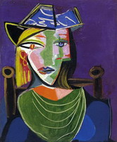 Pablo Picasso. Portrait of woman with a beret