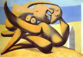 Pablo Picasso. Figures on a Beach, 1931