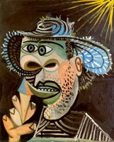 Pablo Picasso. Man with ice cream cone