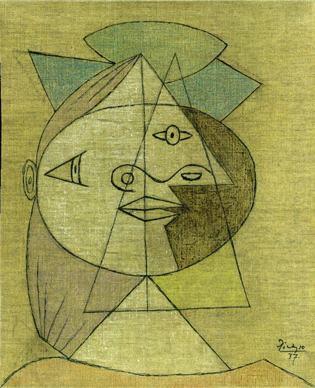 Pablo Picasso. Head of a Woman (Marie-Therese Walter), 1937