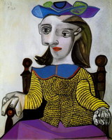 Pablo Picasso. The yellow jersey (Dora)