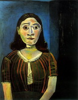 Pablo Picasso. Woman in satin bodice (Portrait of Dora Maar)
