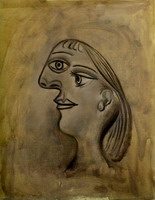 Pablo Picasso. Woman head - left Profile