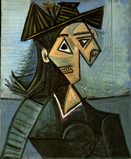 Pablo Picasso. Bust of a Woman with a hat with flowers, 1942