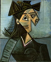 Pablo Picasso. Bust of a Woman with a hat with flowers