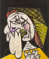 Pablo Picasso. Weeping Woman with scarf