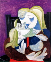 Pablo Picasso. Woman and child (Marie-Therese and Maya), 1938