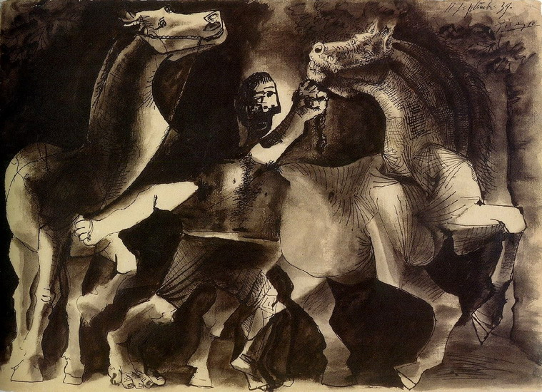 Pablo Picasso. Horses and character, 1939