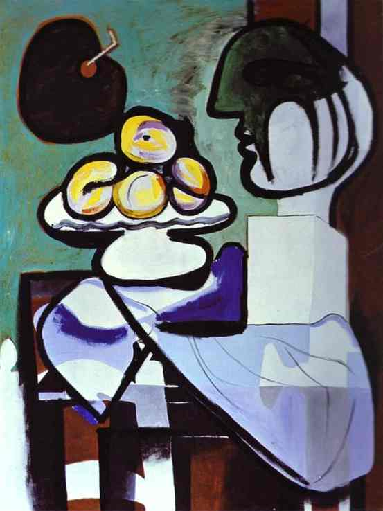 Pablo Picasso. Nature morte- Bust, cutting and pallet, 1932