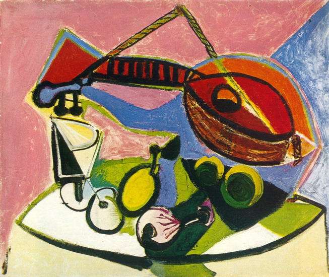 Pablo Picasso. Still life has l`instrument music, 1938