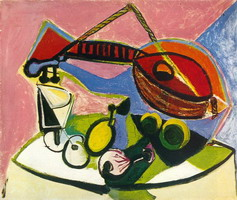 Pablo Picasso. Still life has l`instrument music