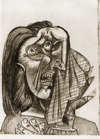 Pablo Picasso. Weeping Woman I (VI), 1937