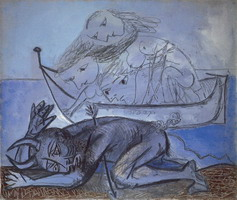 Pablo Picasso. Boat naЛades and injured wildlife, 1937