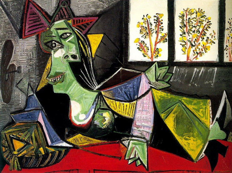 Pablo Picasso. Woman lengthened on a sofa (Dora Maar), 1939