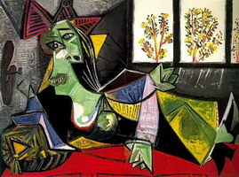 Pablo Picasso. Woman lengthened on a sofa (Dora Maar)