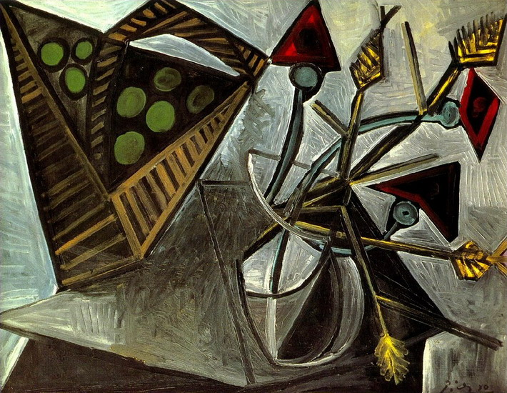 Pablo Picasso. Still life with fruit basket, 1942