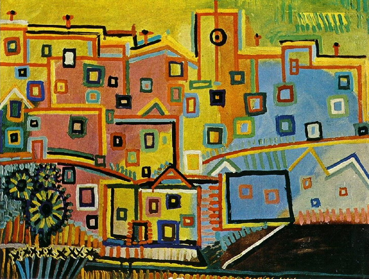 Pablo Picasso. houses, 1937