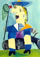 Pablo Picasso. Maya dressed in sailor