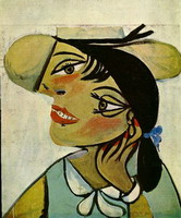 Pablo Picasso. Portrait of woman in d`hermine pass (Olga)