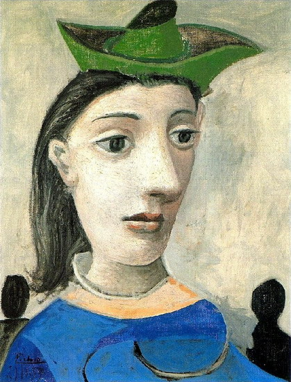 Pablo Picasso. Woman with green hat, 1939