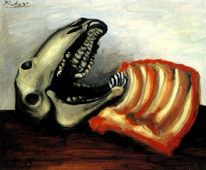 Pablo Picasso. Still Life with sheep skull, 1939