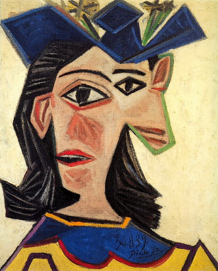 Pablo Picasso. Bust of Woman with Hat (Dora Maar), 1939
