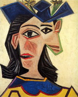 Pablo Picasso. Bust of Woman with Hat (Dora Maar)