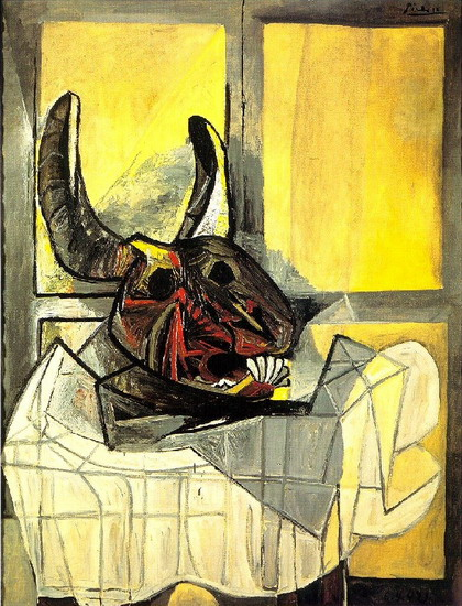 Pablo Picasso. Bull's head on a table, 1942