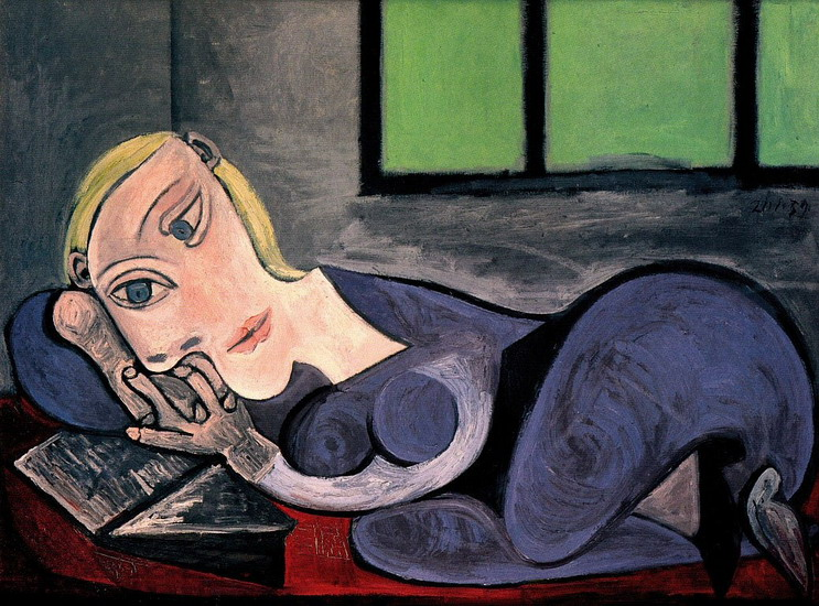 Pablo Picasso. Woman reading couchee (Marie-Therese), 1939