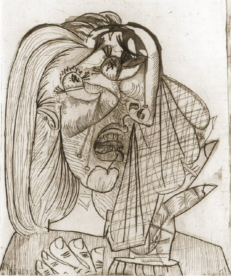 Pablo Picasso. Weeping Woman I (III), 1937