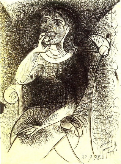 Pablo Picasso. Woman in an armchair, 1938