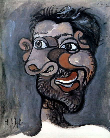Pablo Picasso. Head of a Bearded Man, 1940