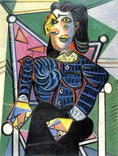 Pablo Picasso. Woman sitting in an armchair, 1944