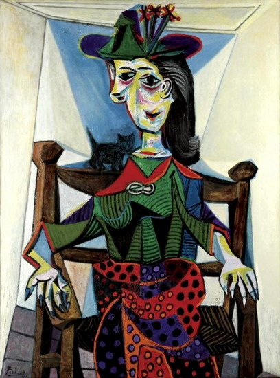 Pablo Picasso. Dora Maar with a cat, 1941