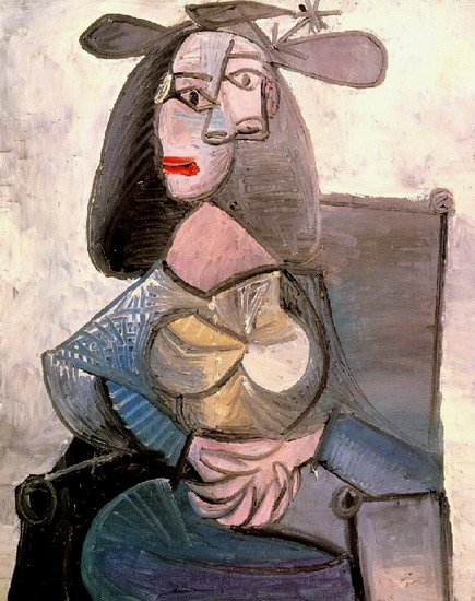 Pablo Picasso. Woman in an armchair, 1948