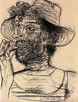 Pablo Picasso. Man with lollipop