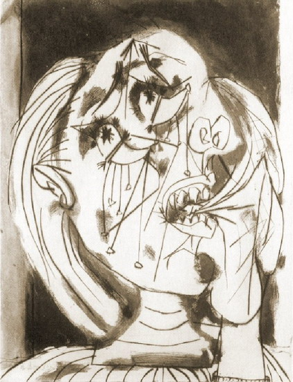 Pablo Picasso. Weeping Woman, 1937